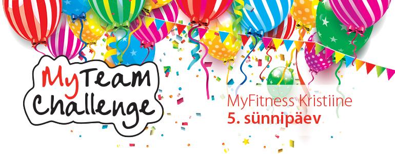 MyFitness Kristiine sünnipäev MyTeam Challenge lõpetamine