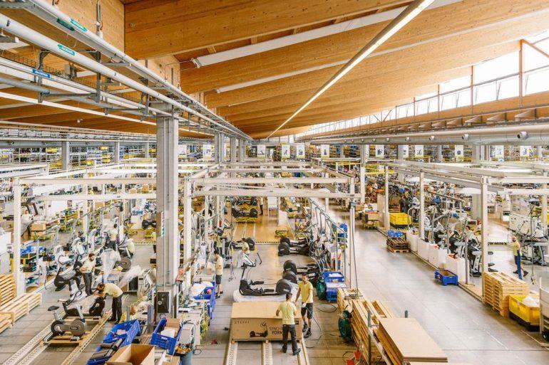 TechnoGymi jõusaalimasinate tehas