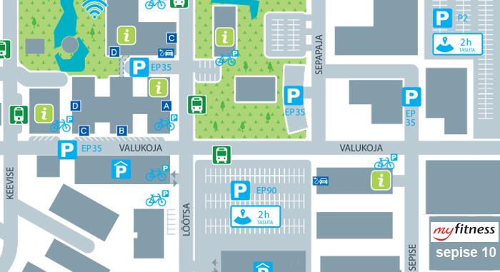 MyFitness Ülemiste City parkimine